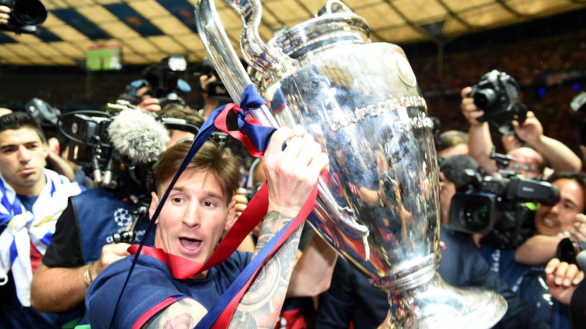 Barcelona celebrate Juventus Barcelona Champions League final 06062015
