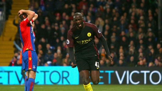 Yaya Toure Manchester City Crystal Palace 19112016