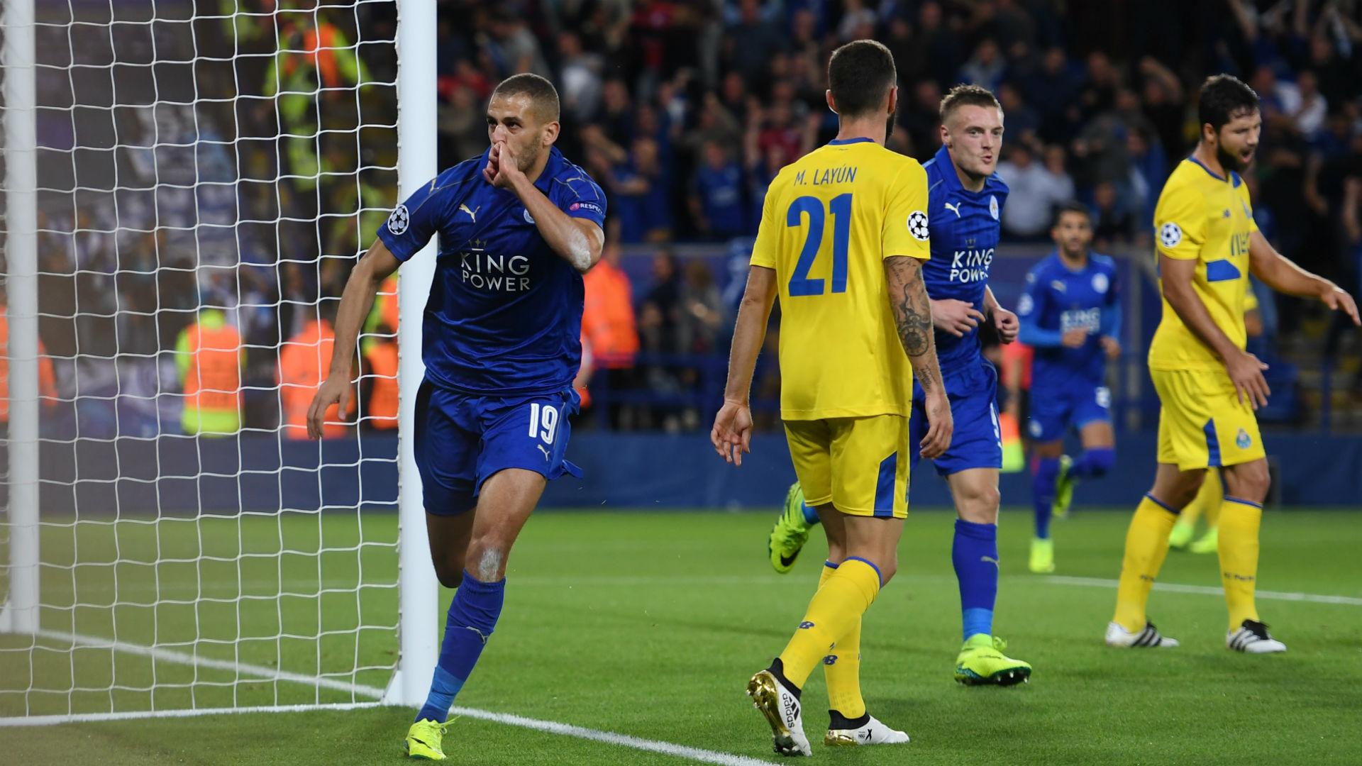 Islam Slimani Champions League Leicester v Porto 270916