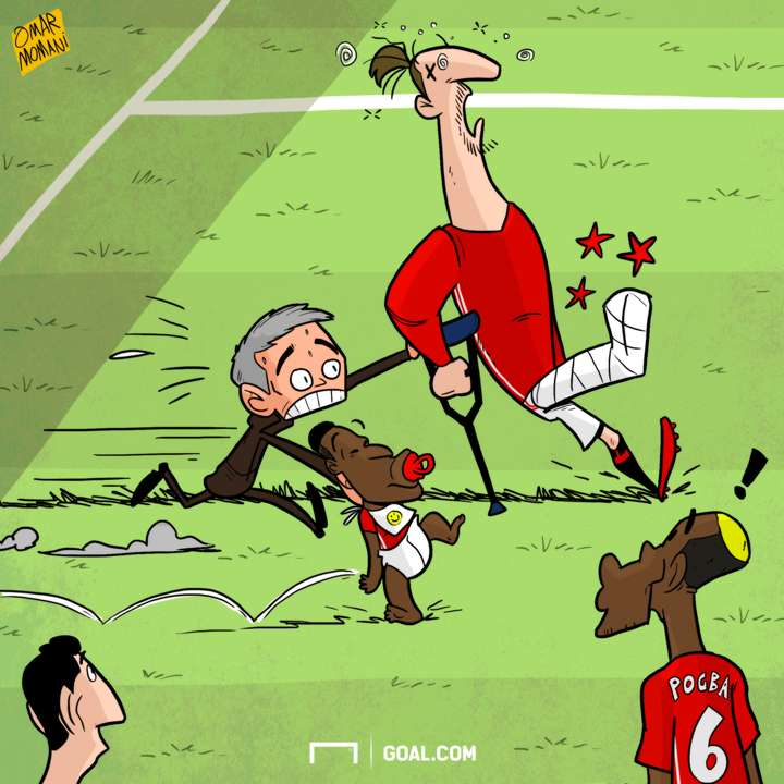 CARTOON Ibrahimovic's injury