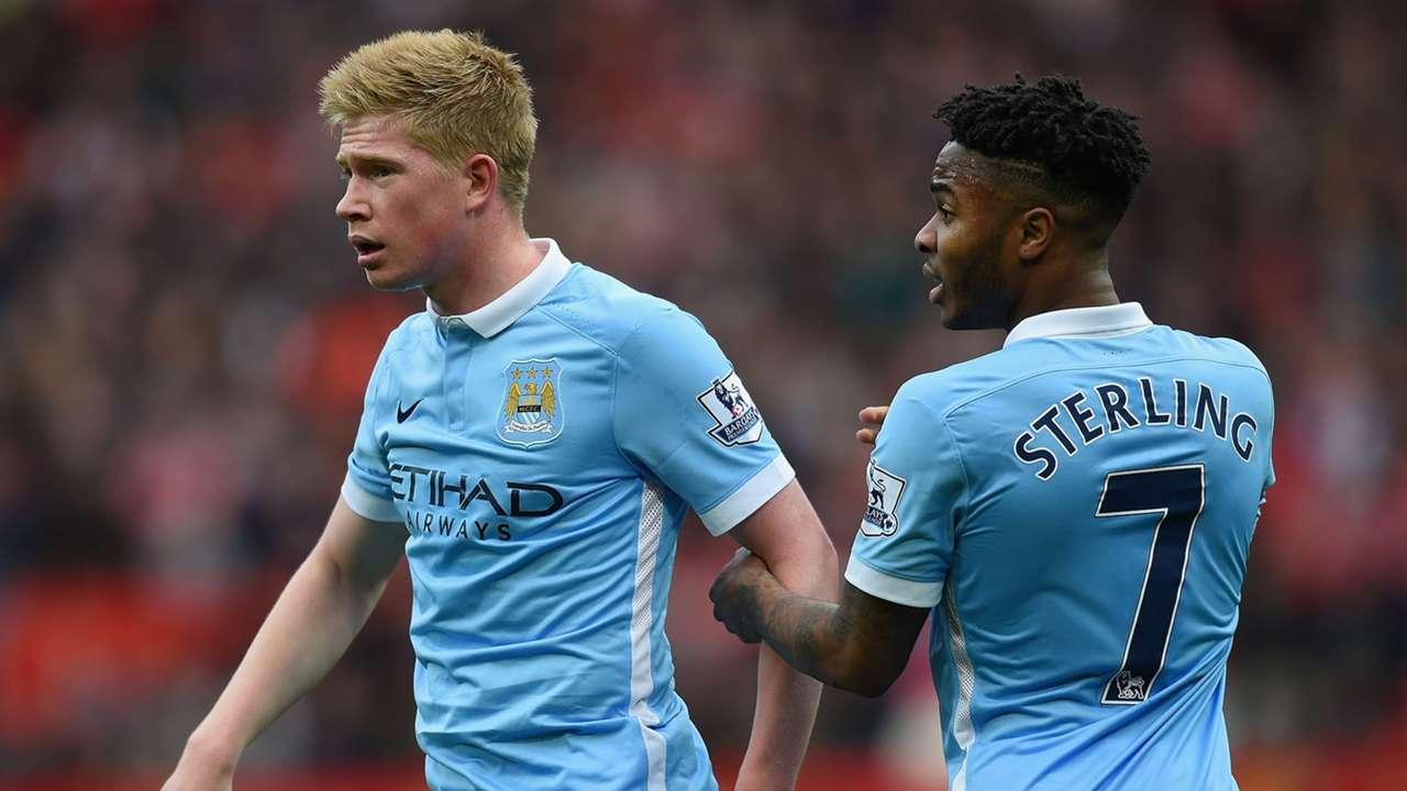 Kevin De Bruyne Raheem Sterling Manchester City Premier League
