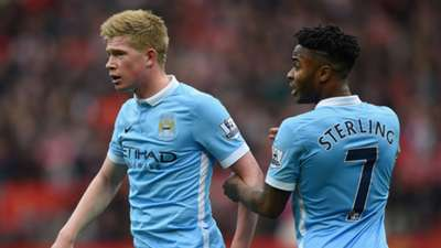 Kevin De Bruyne Raheem Sterling Manchester City Premier League