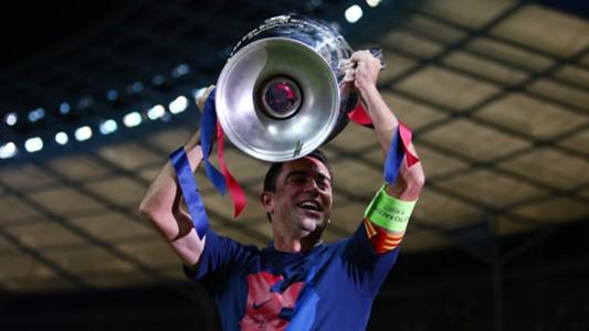 Xavi Barcelona celebrate Juventus Barcelona Champions League final 06062015