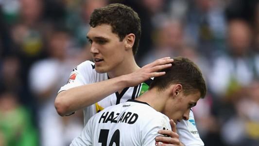 Andreas Christensen with Thorgan Hazard