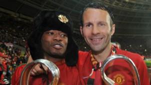 Patrice Evra Ryan Giggs Manchester United 2008