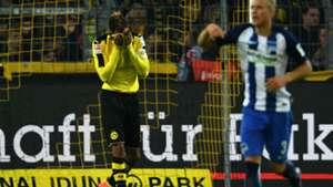 Pierre-Emerick Aubameyang Bundesliga Borussia Dortmund v Hertha Berlin 141016