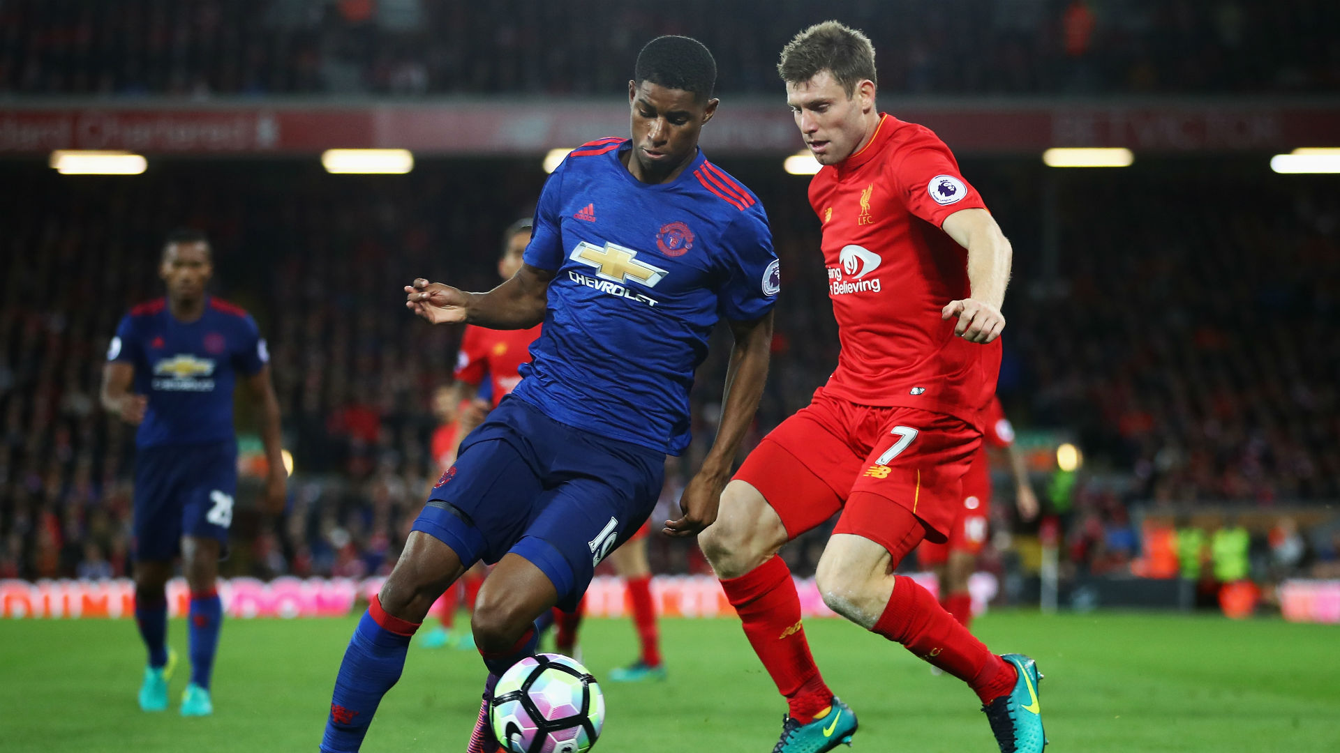 Marcus Rashford Premier League Liverpool v Manchester United 17101