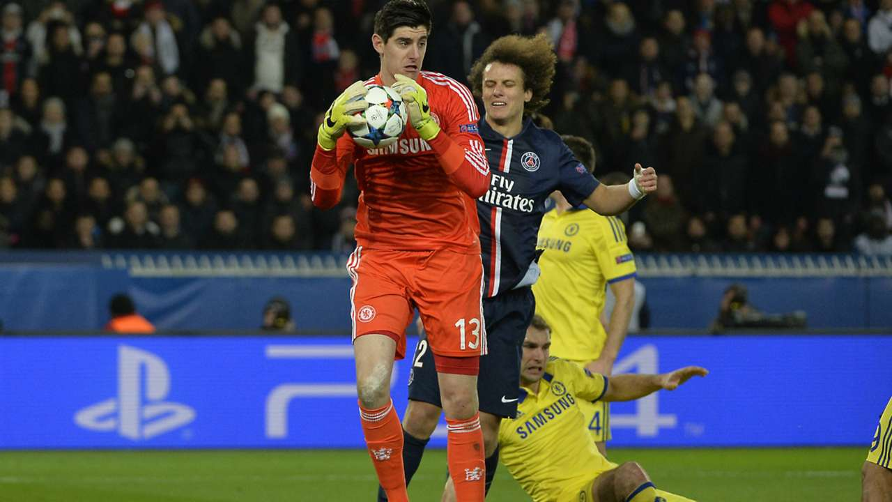 Thibaut Courtois David Luiz Chelsea PSG Paris Saint-Germain Champions League 17022015