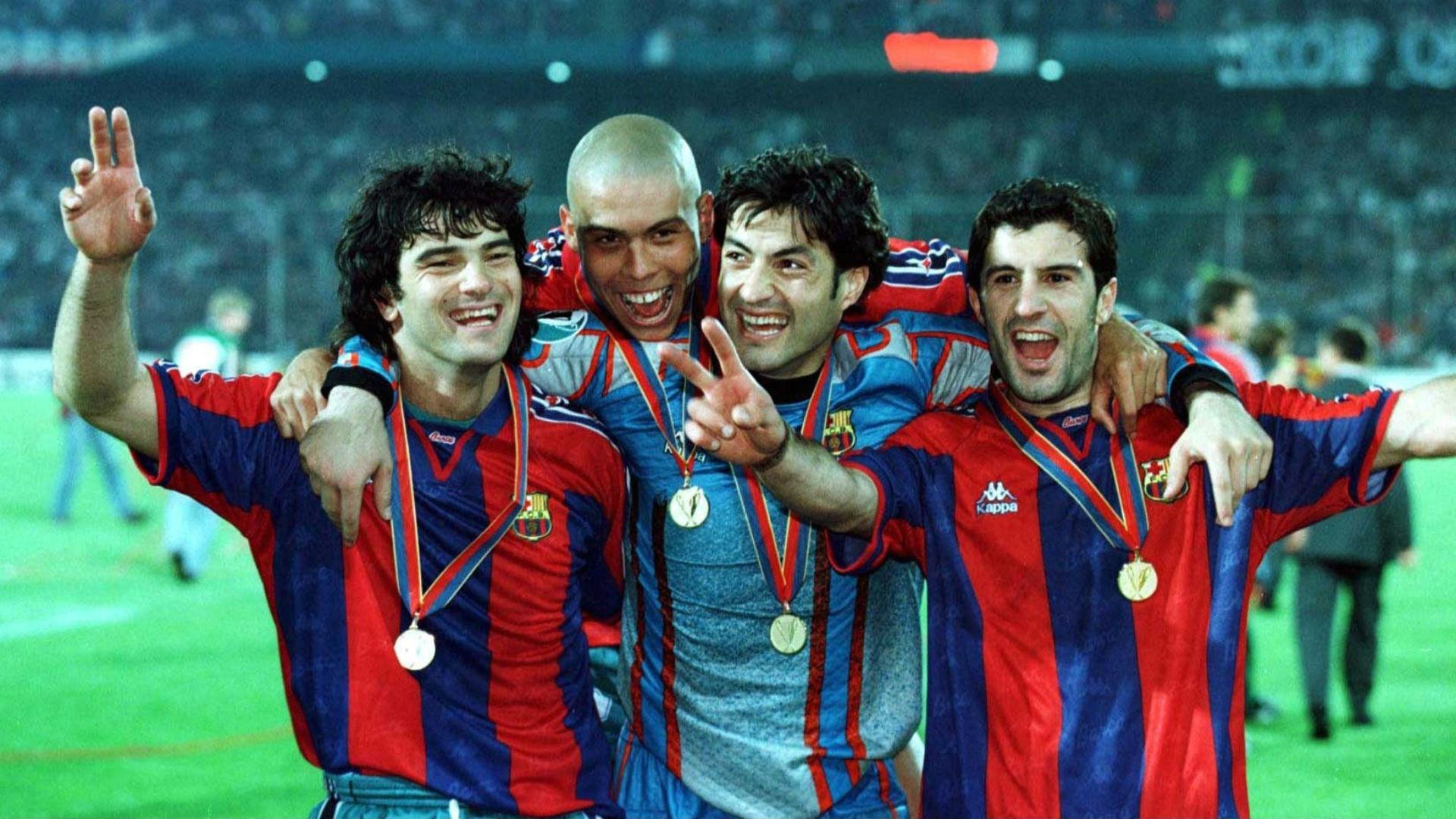 fernando couto ronaldo nazario vitor baia luis figo - barcelona cup winners cup - 1997