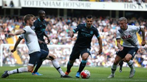 Eric Dier Toby Alderweireld Yaya Toure Sergio Aguero Tottenham Manchester City Premier League 260915