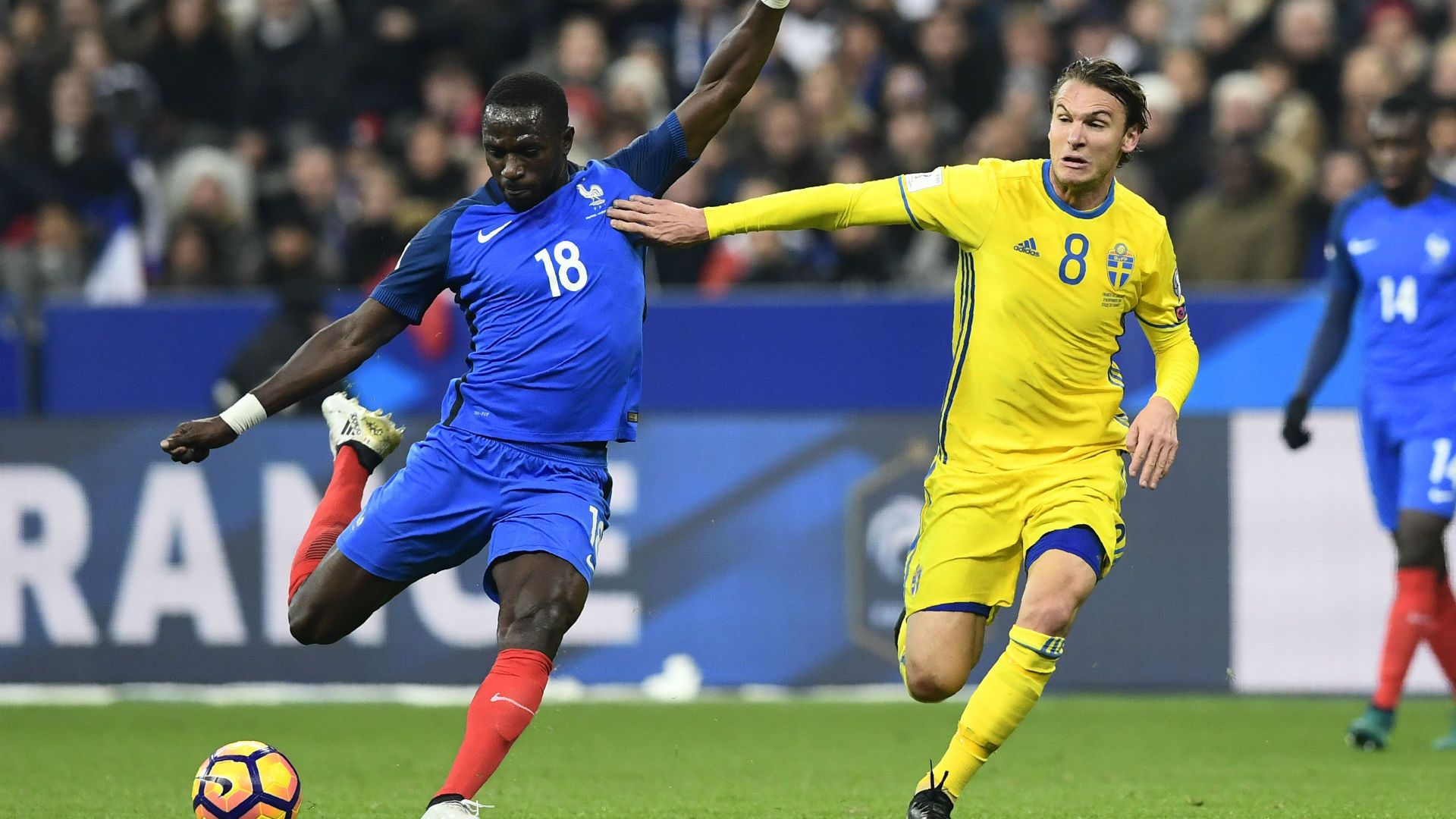 Moussa Sissoko Albin Ekdal France Sweden World Cup Qualifiers 11112016