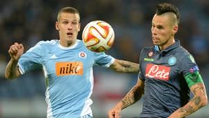 Richard Lasik Marek Hamsik Slovan Bratislava Napoli Europa League
