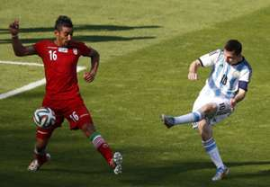 Lionel Messi Argentina Iran 2014 World Cup Group F 21062014