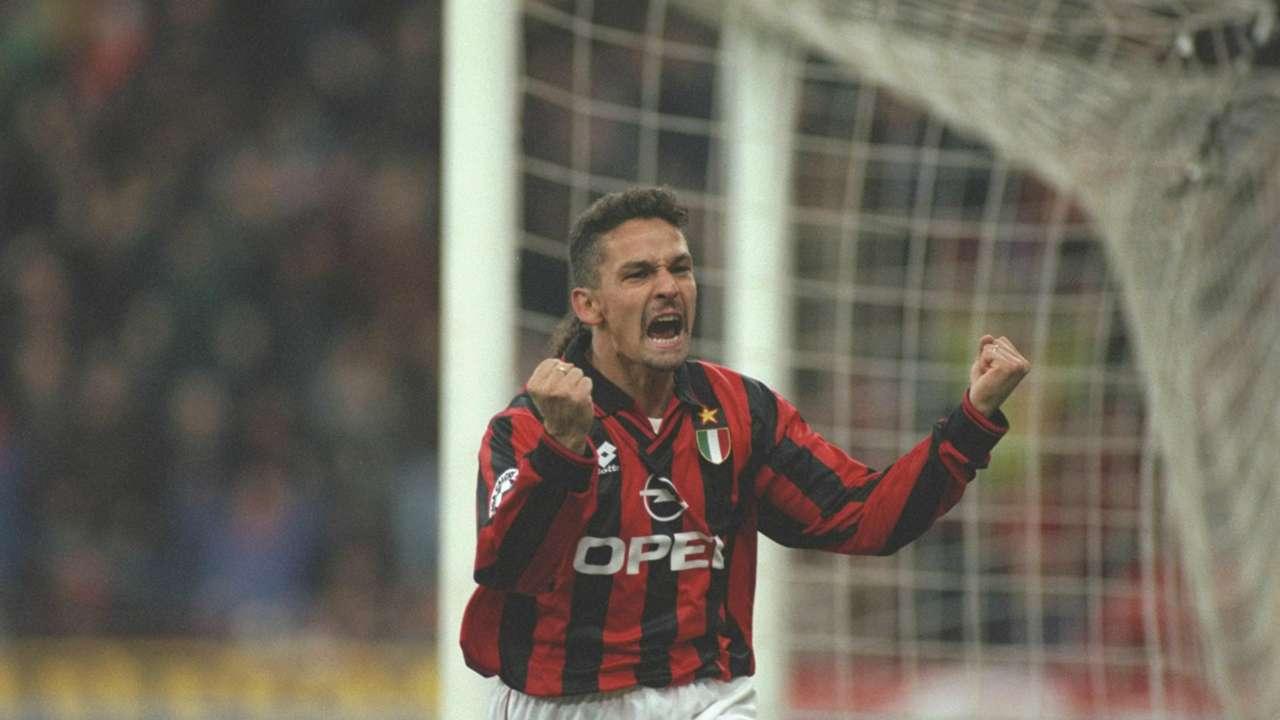 Roberto Baggio Milan 24101996