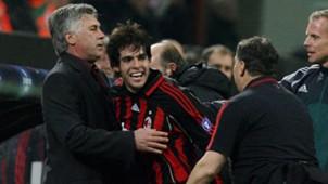 Carlo Ancelotti Kaka AC Milan Champions League