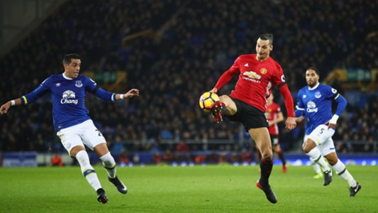Zlatan Ibrahimovic Everton Manchester United Premier League