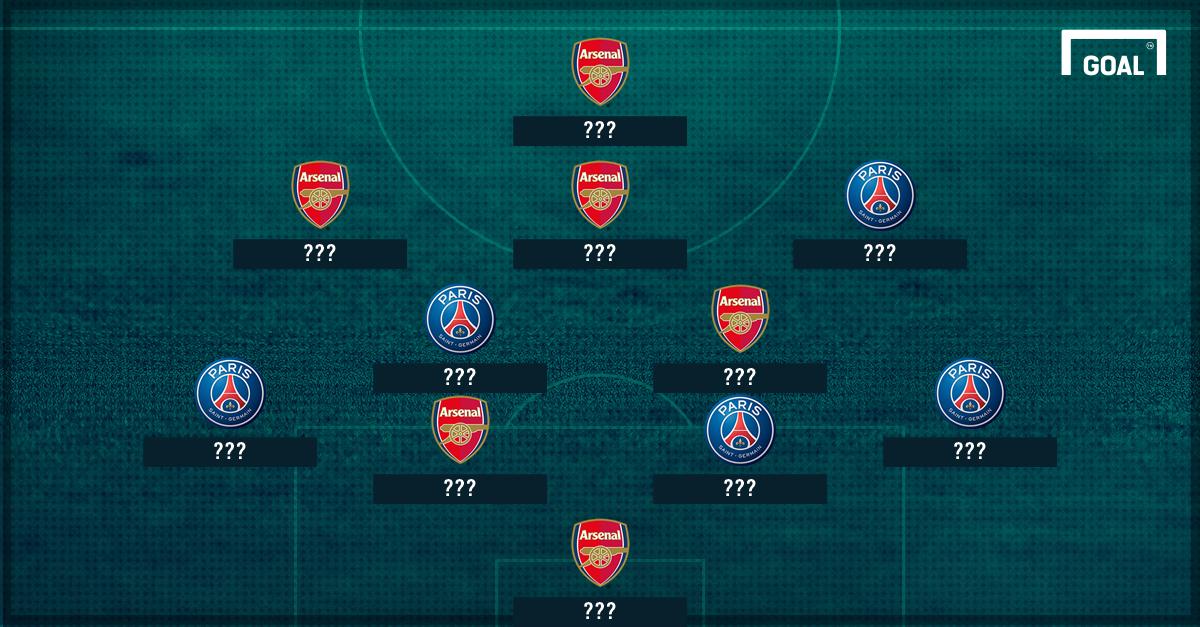 GFX Info PSG Arsenal Combined XI