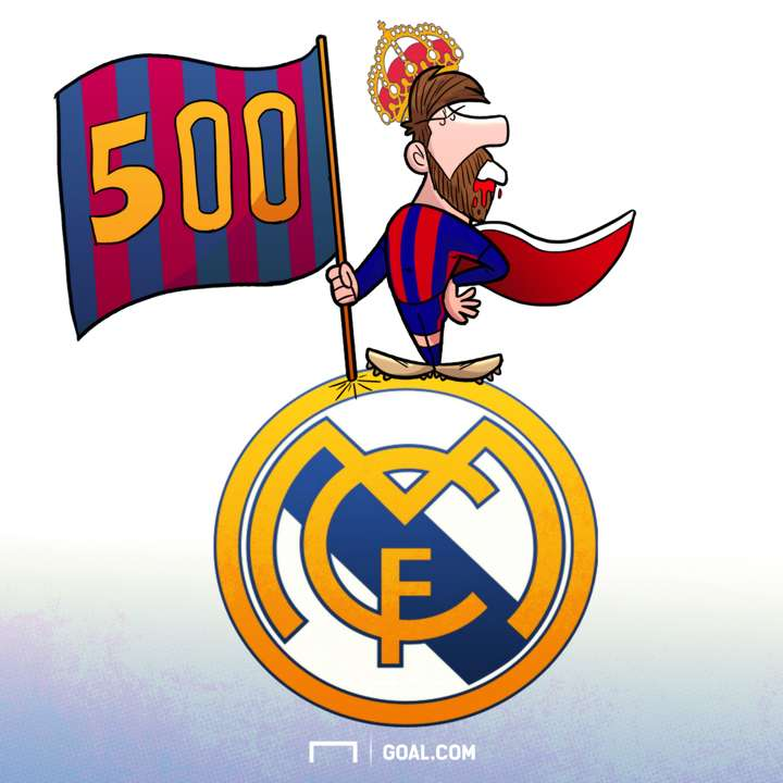Messi 500 Cartoon