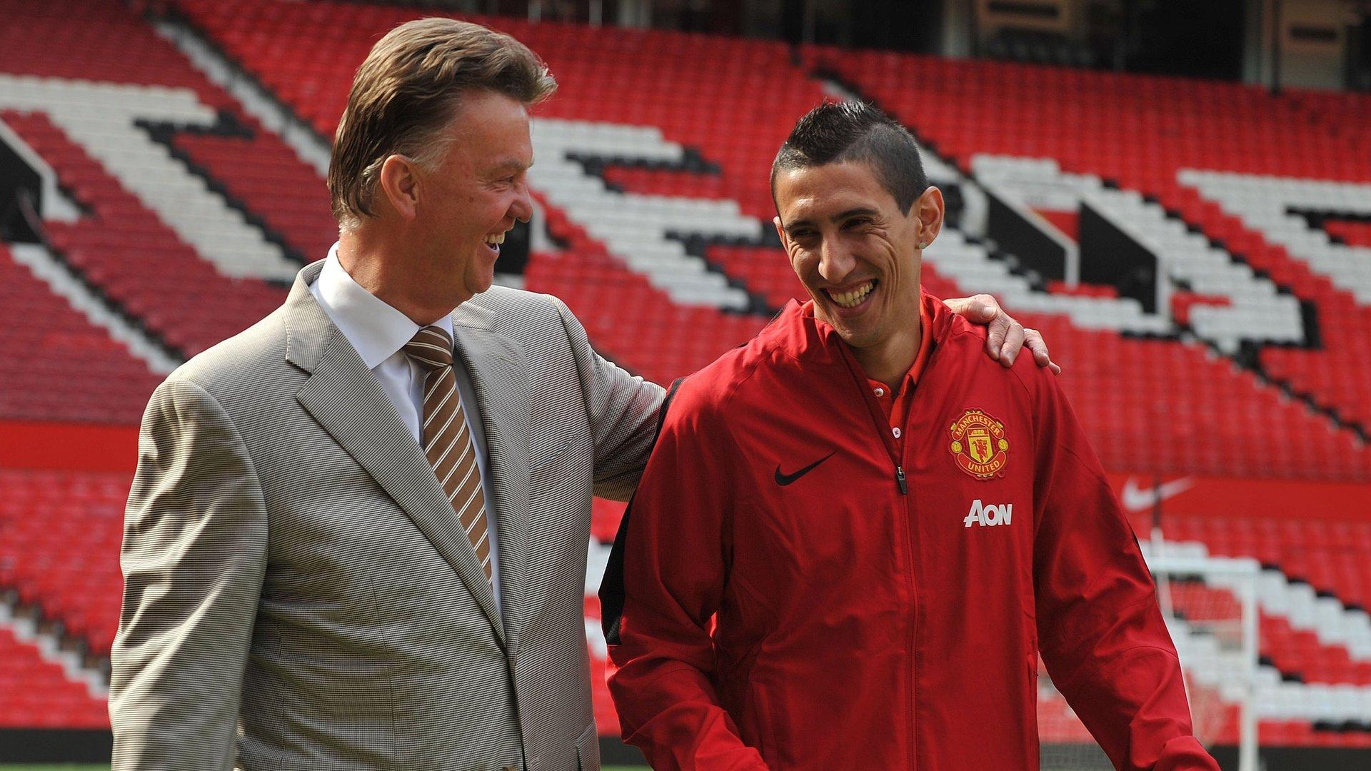 Louis van Gaal Angel Di Maria Manchester United