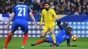 Jimmy Durmaz Patrice Evra France Sweden 11112016