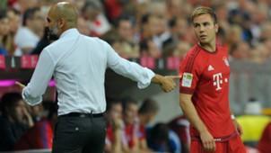 Pep Guardiola Mario Gotze Bayern Munich 15082015