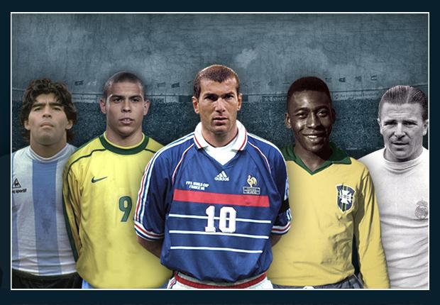 HOF Hall of Fame all Maradona Ronaldo Zidane Pele Puskas