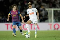Neymar Puyol Barcelona Santos CWC 18122011
