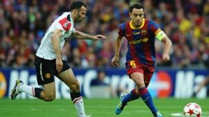 Ryan Giggs Xavi Manchester United Barcelona 2011