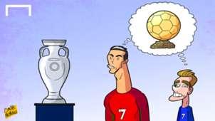 CARTOON: CR7 vs Griezmann for Ballon d'Or