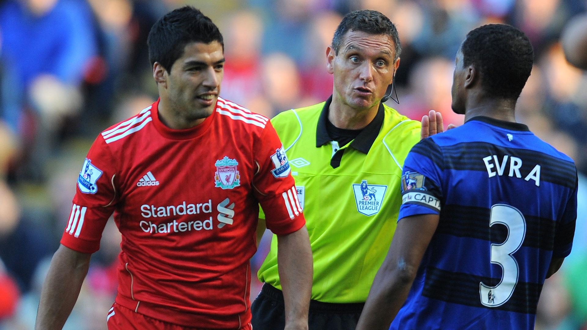 Luis Suarez Patrice Evra Liverpool Manchester United