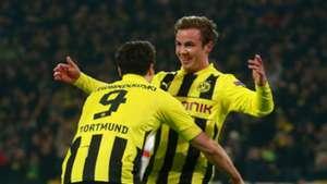 Mario Gotze Robert Lewandowski Borussia Dortmund