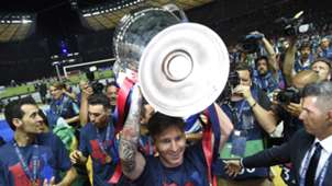 Lionel Messi Barcelona celebrate Juventus Barcelona Champions League final 06062015