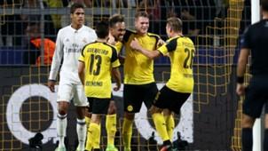 Pierre-Emerick Aubameyang Champions League Borussia Dortmund v Real Madrid 270916