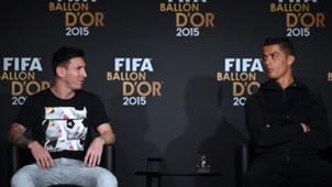 Lionel Messi Cristiano Ronaldo Ballon d'Or 2015