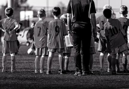 Children's football mock up