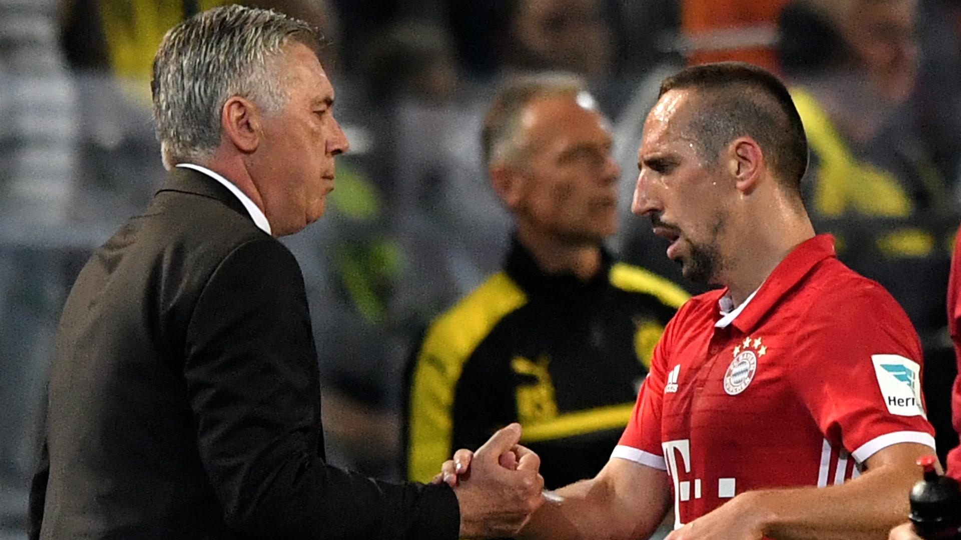 Franck Ribery Carlo Ancelotti Bayern Munich
