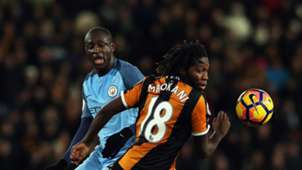 Yaya Toure Mbokani Hull City Manchester City