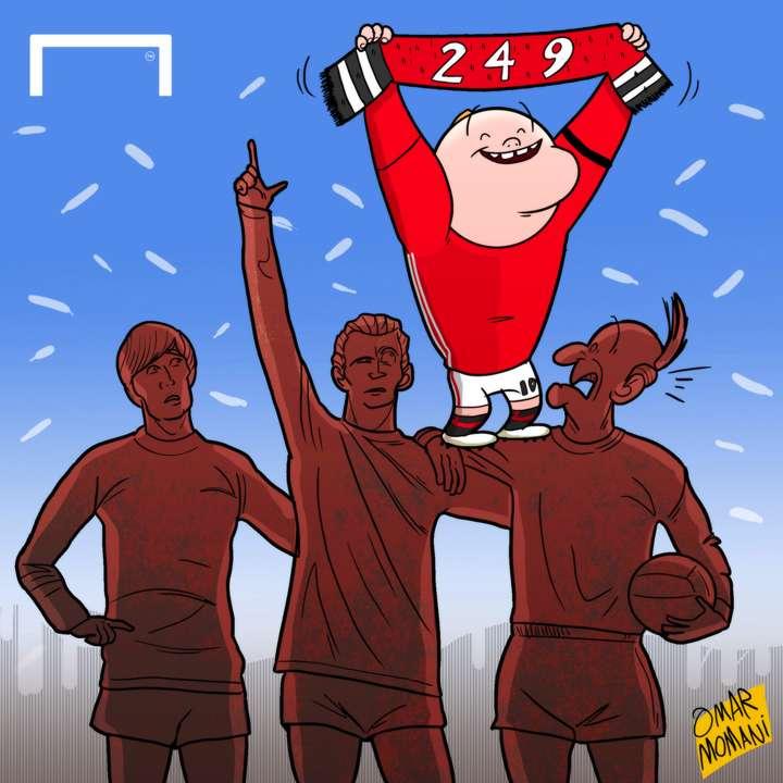 Cartoon Rooney equals Charlton record