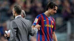 Pep Guardiola Zlatan Ibrahimovic Barcelona