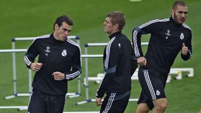 Gareth Bale Real Madrid Champions League training 03112014
