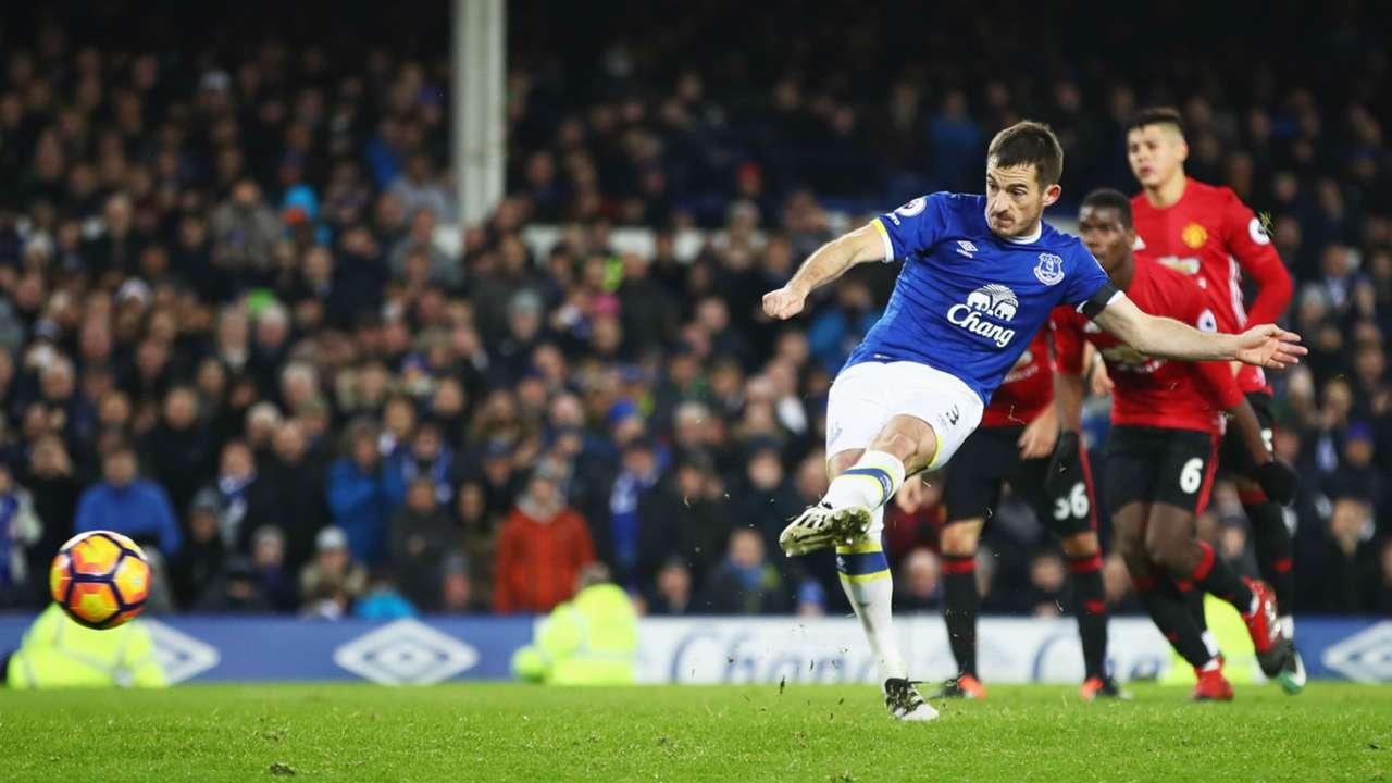 Leighton Baines Everton Manchester United