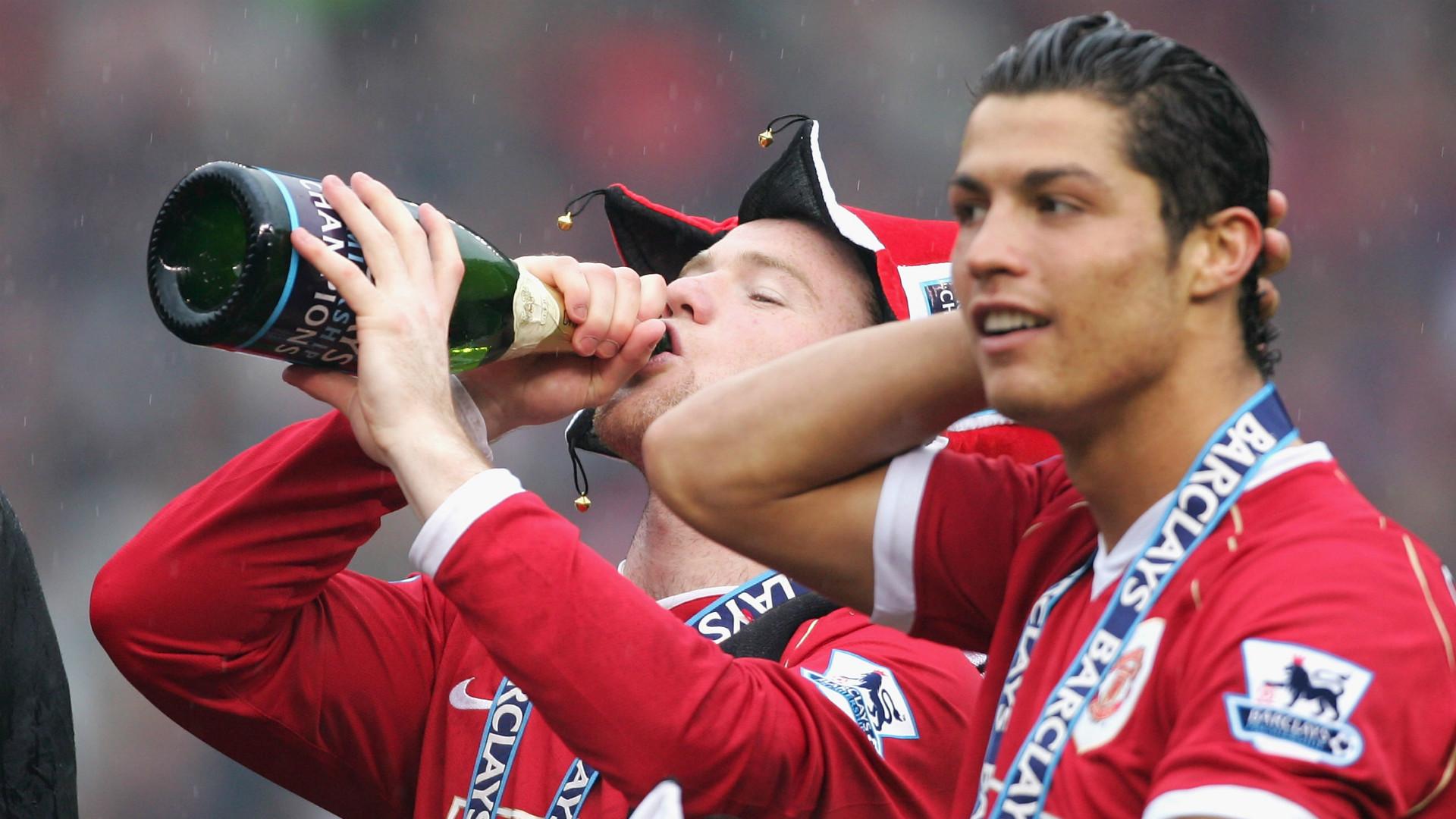 Wayne Rooney Cristiano Ronaldo Premier League champion 2007
