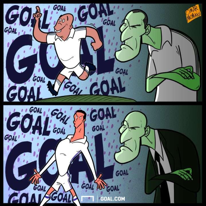 Zinedine Zidane Ronaldo cartoon