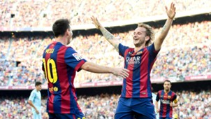 Lionel Messi Ivan Rakitic Barcelona 27092014