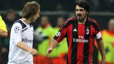 Gennaro Gattuso Luka Modric AC Milan Tottenham