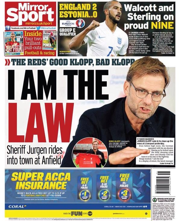 Daily Mirror 101015