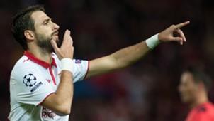 Nicolas Parejo celebrates Sevilla Juventus