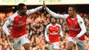 Alexis Sanches Theo Walcott Arsenal Bournemouth