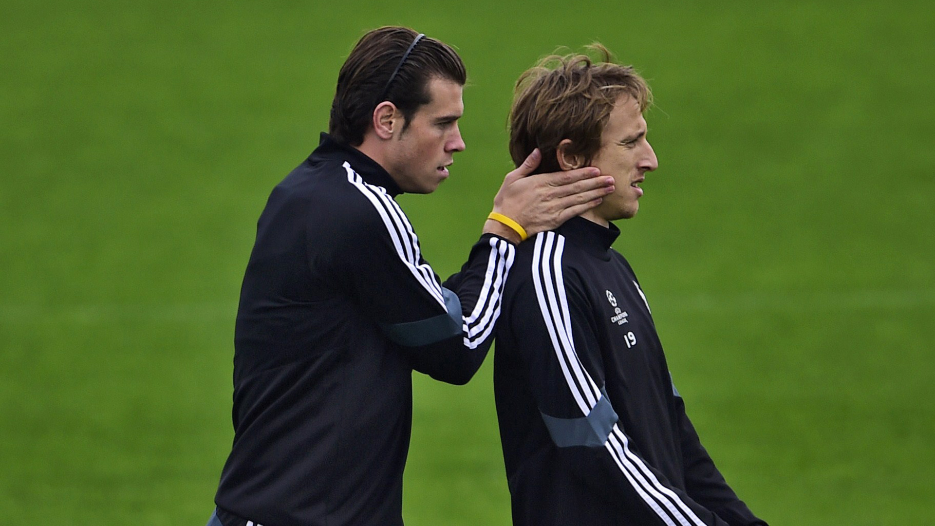 Gareth Bale Luka Modric Real Madrid Champions League training 03112014