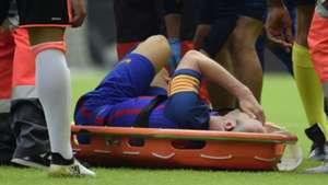 Andres Iniesta, Barcelona injured